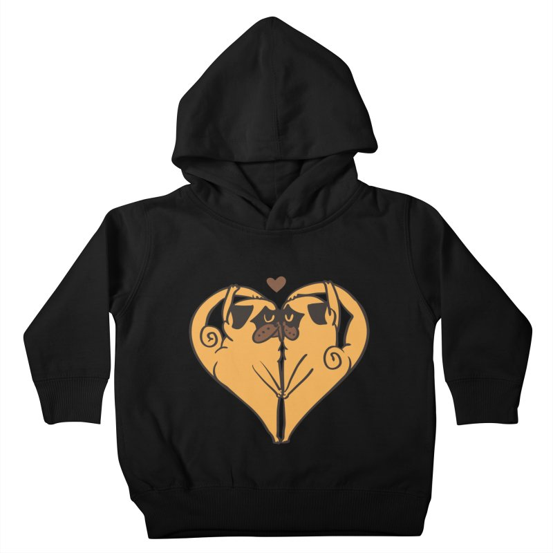Stretching and Love Kids Toddler Pullover Hoody by huebucket's Artist Shop