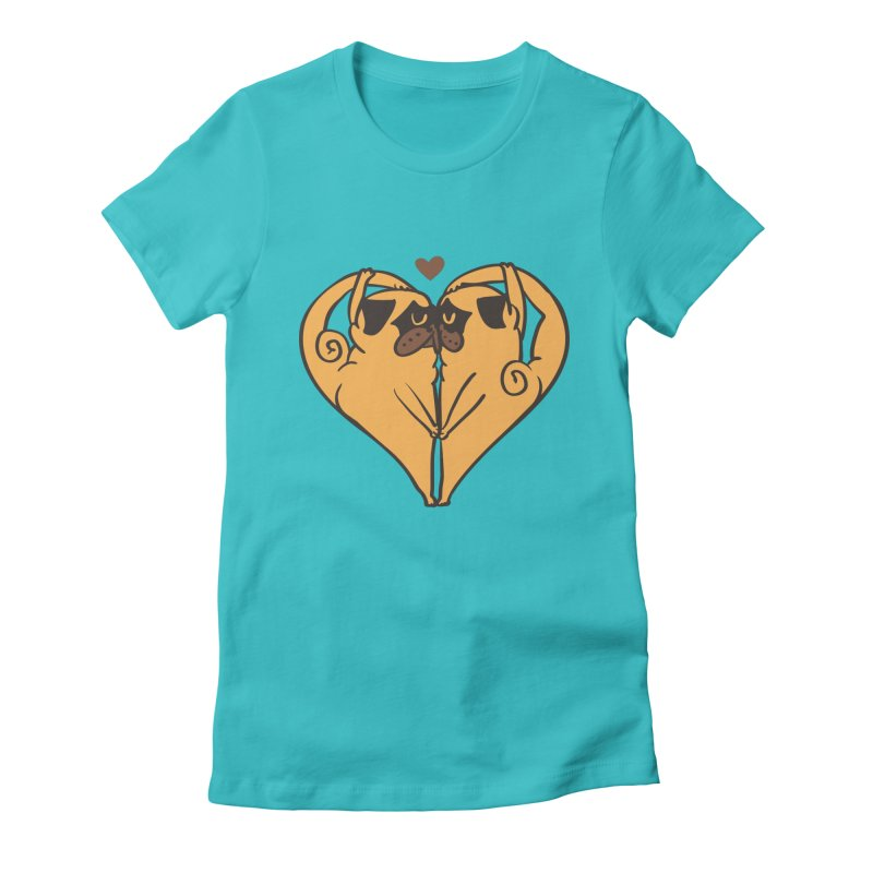 Stretching and Love Women's Fitted T-Shirt by huebucket's Artist Shop