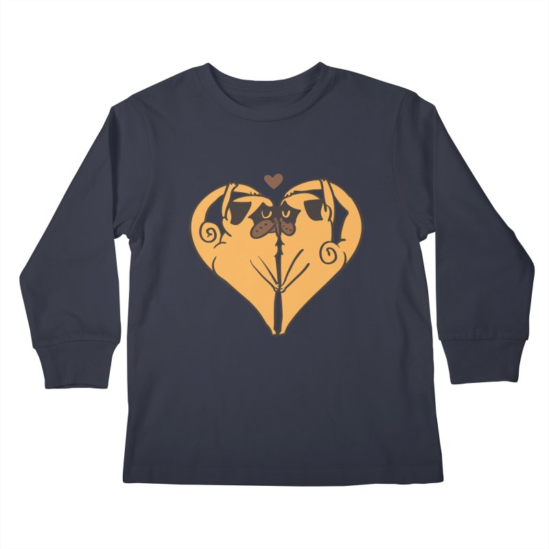 Stretching and Love Kids Longsleeve T-Shirt by huebucket's Artist Shop