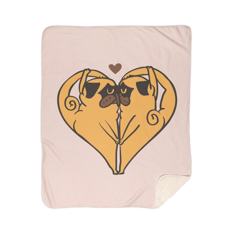 Stretching and Love Home Sherpa Blanket Blanket by huebucket's Artist Shop