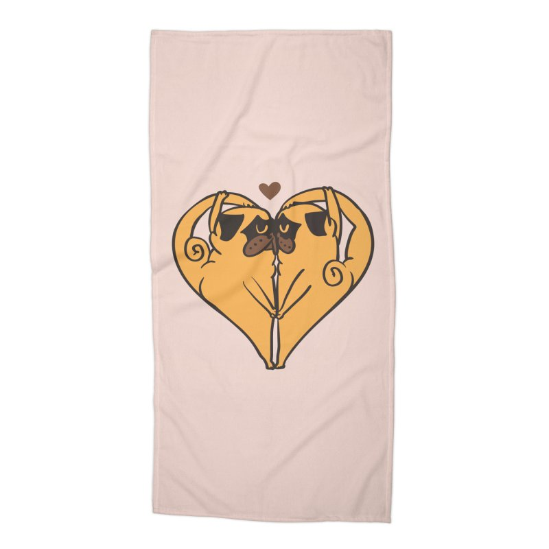 Stretching and Love Accessories Beach Towel by huebucket's Artist Shop