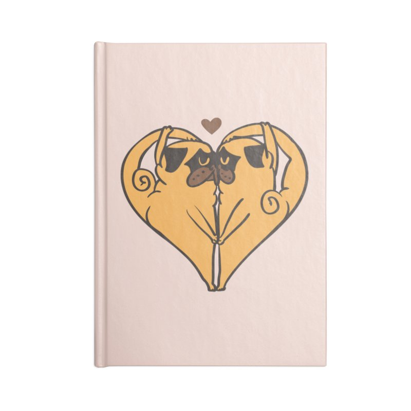 Stretching and Love Accessories Blank Journal Notebook by huebucket's Artist Shop