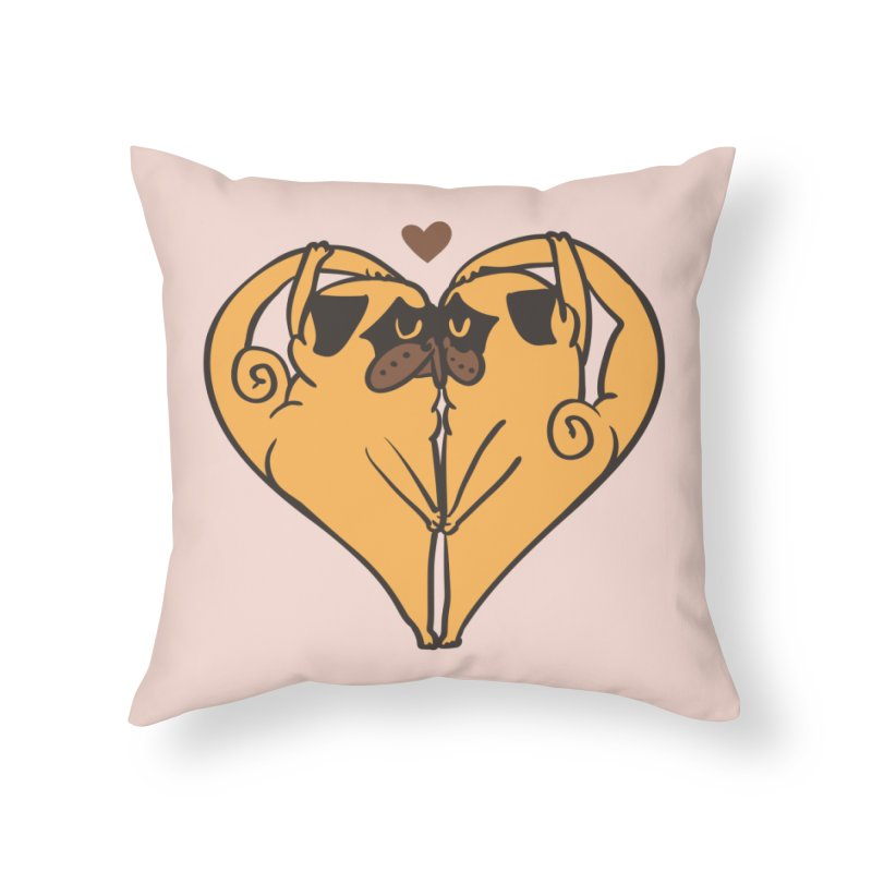 Stretching and Love Home Throw Pillow by huebucket's Artist Shop