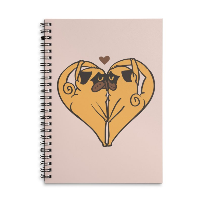 Stretching and Love Accessories Lined Spiral Notebook by huebucket's Artist Shop