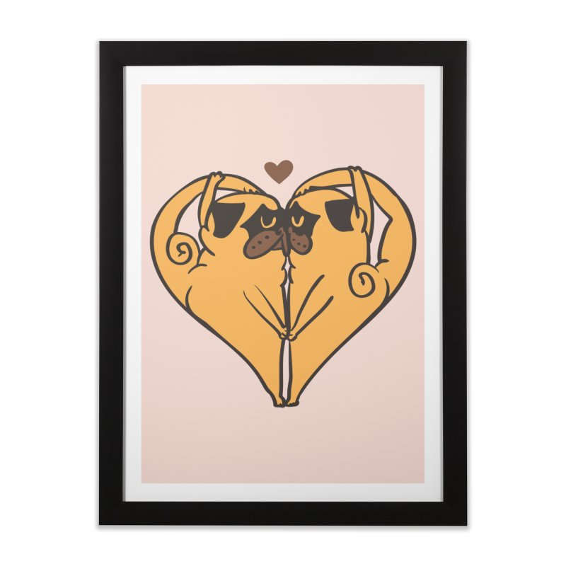 Stretching and Love Home Framed Fine Art Print by huebucket's Artist Shop