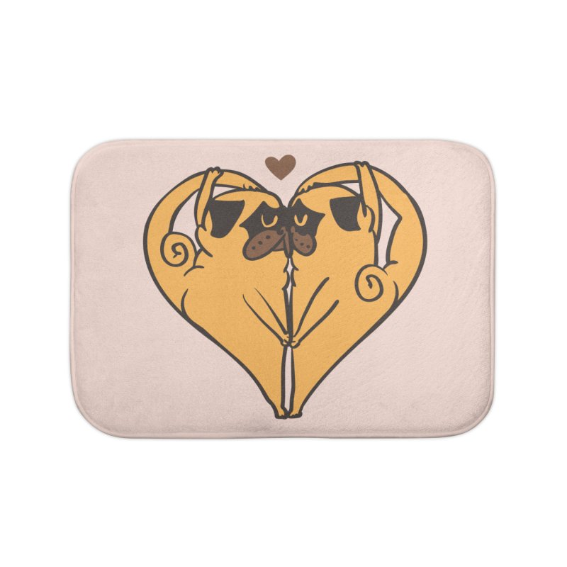 Stretching and Love Home Bath Mat by huebucket's Artist Shop