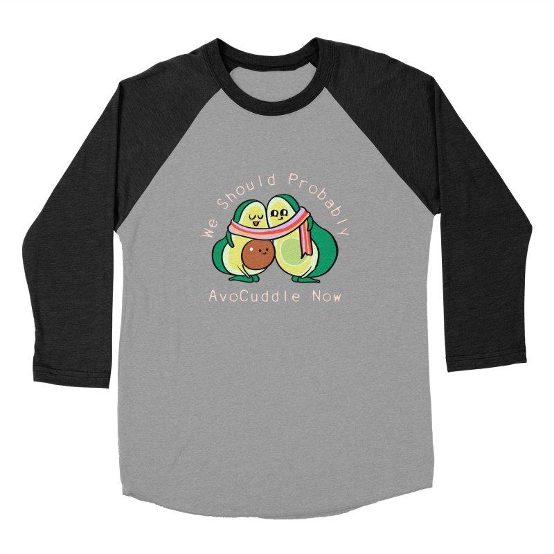 We Should Probably AvoCuddle Now Men's Baseball Triblend Longsleeve T-Shirt by huebucket's Artist Shop