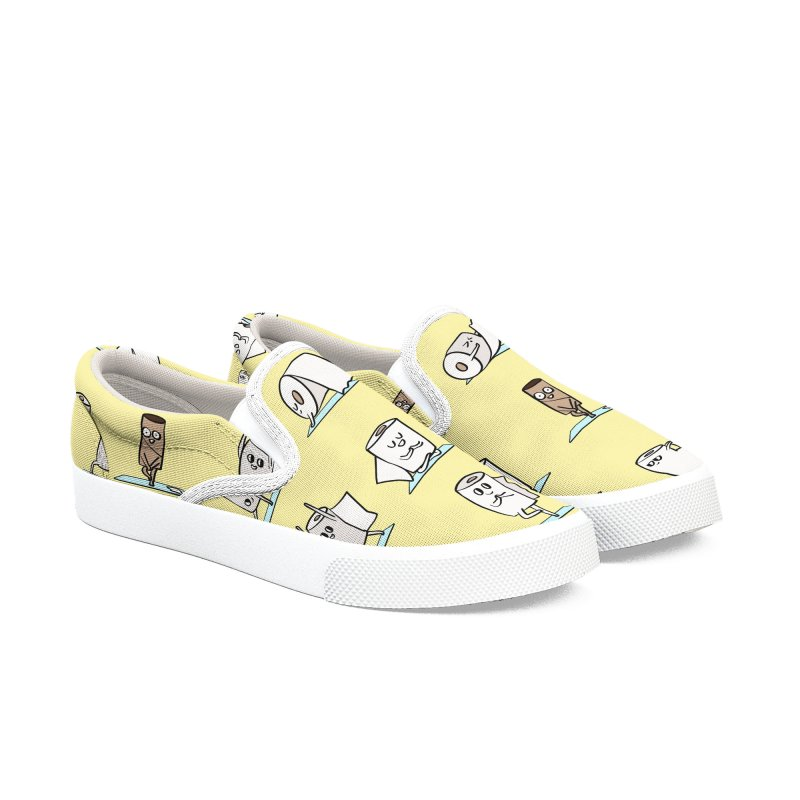 Toilet Paper Yoga Women's Slip-On Shoes by huebucket's Artist Shop
