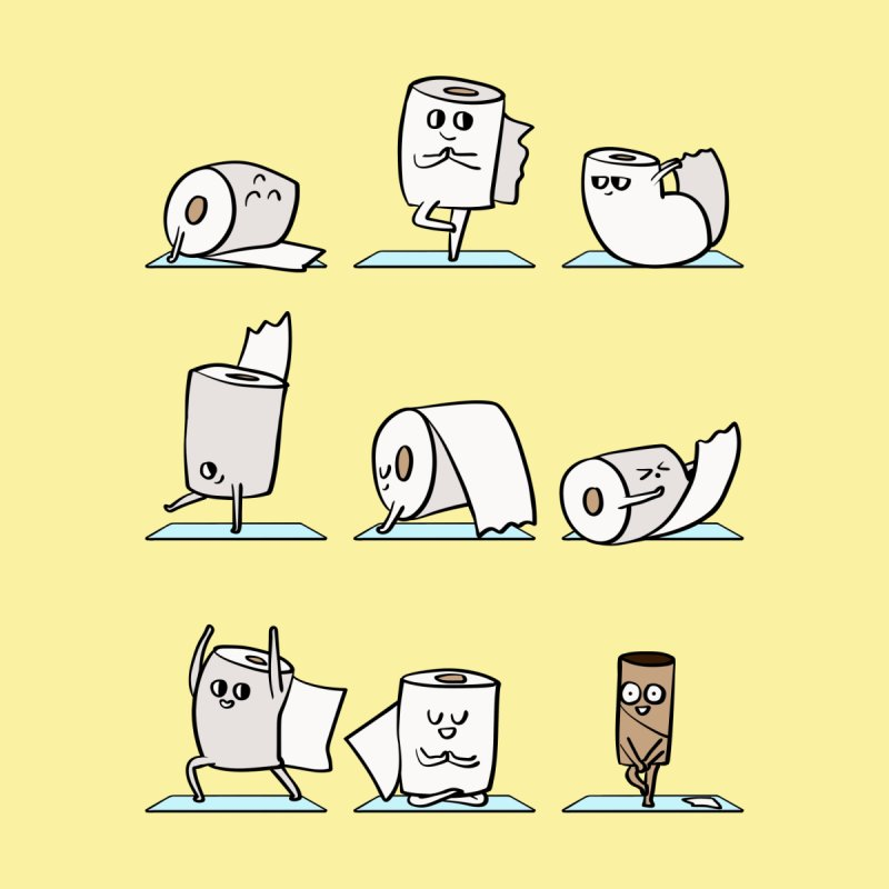 Toilet Paper Yoga by huebucket's Artist Shop