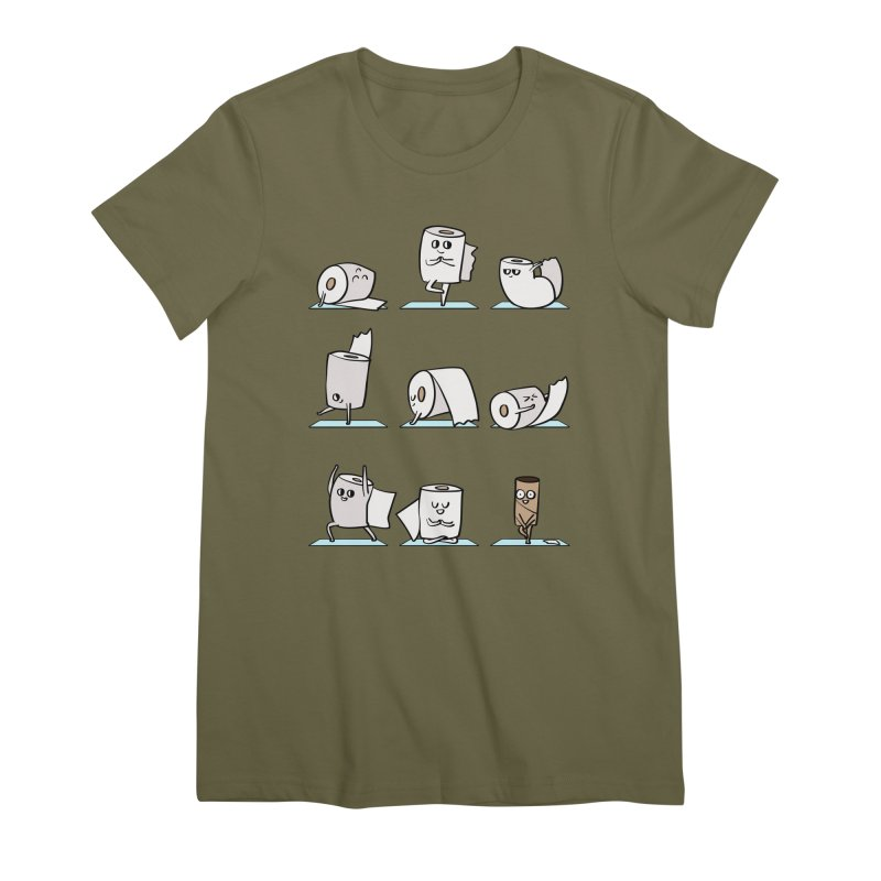 Toilet Paper Yoga Women's Premium T-Shirt by huebucket's Artist Shop