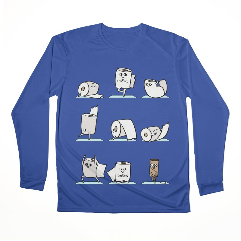 Toilet Paper Yoga Men's Performance Longsleeve T-Shirt by huebucket's Artist Shop