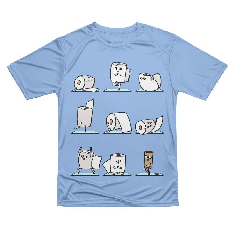 Toilet Paper Yoga Women's T-Shirt by huebucket's Artist Shop