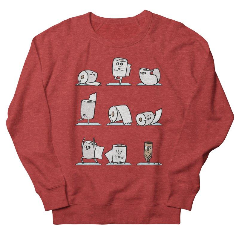 Toilet Paper Yoga Men's French Terry Sweatshirt by huebucket's Artist Shop