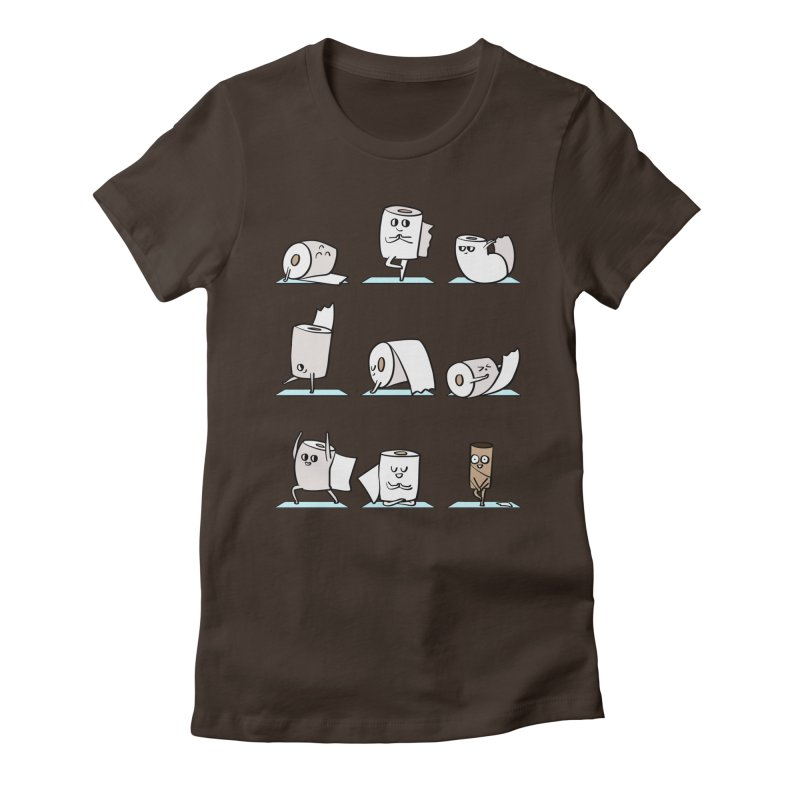 Toilet Paper Yoga Women's Fitted T-Shirt by huebucket's Artist Shop