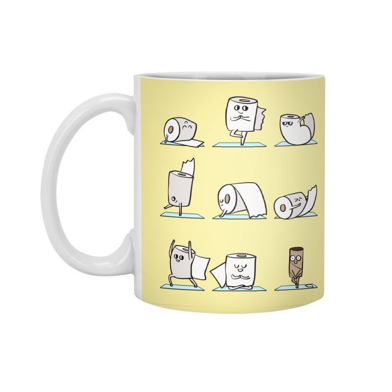Toilet Paper Yoga Accessories Standard Mug by huebucket's Artist Shop