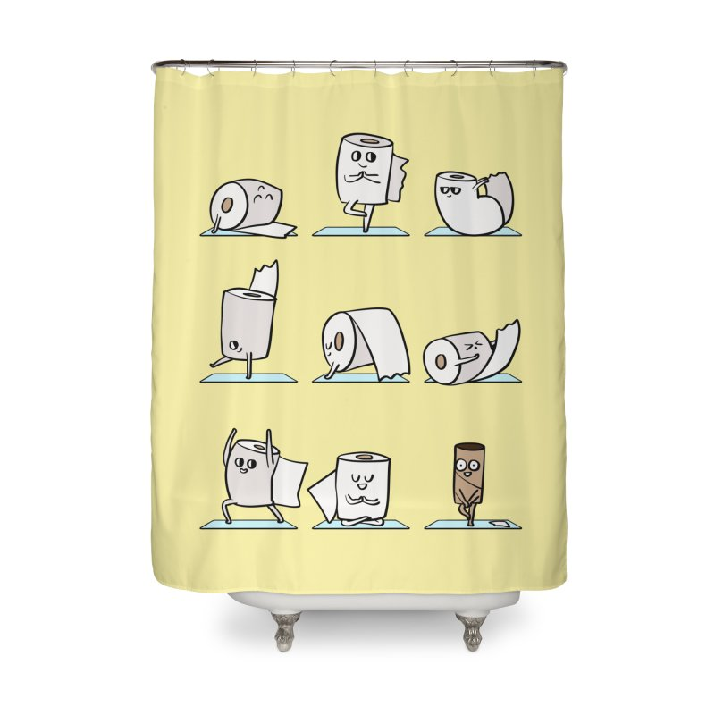Toilet Paper Yoga Home Shower Curtain by huebucket's Artist Shop