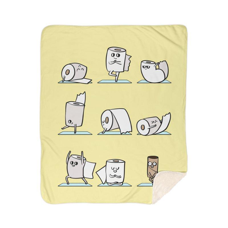 Toilet Paper Yoga Home Sherpa Blanket Blanket by huebucket's Artist Shop