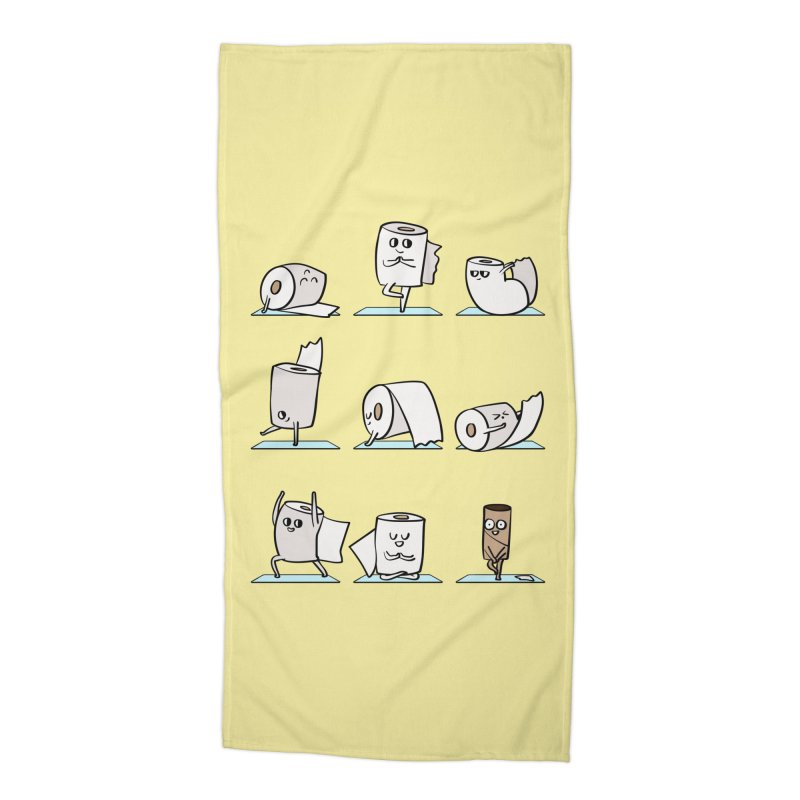 Toilet Paper Yoga Accessories Beach Towel by huebucket's Artist Shop