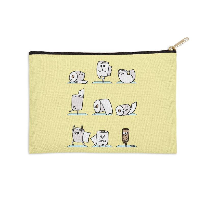 Toilet Paper Yoga Accessories Zip Pouch by huebucket's Artist Shop