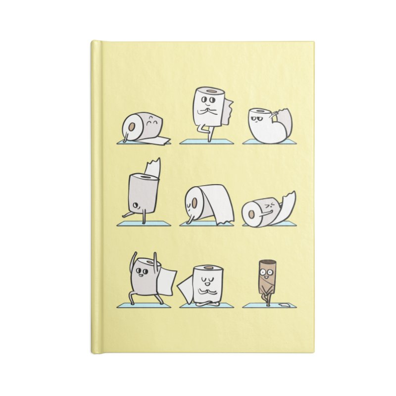 Toilet Paper Yoga Accessories Lined Journal Notebook by huebucket's Artist Shop