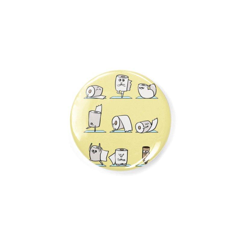 Toilet Paper Yoga Accessories Button by huebucket's Artist Shop