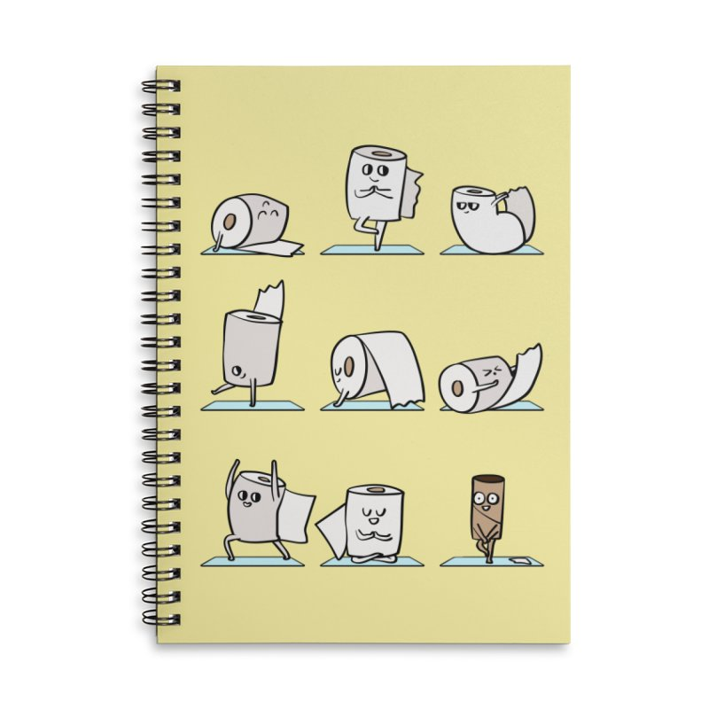 Toilet Paper Yoga Accessories Lined Spiral Notebook by huebucket's Artist Shop