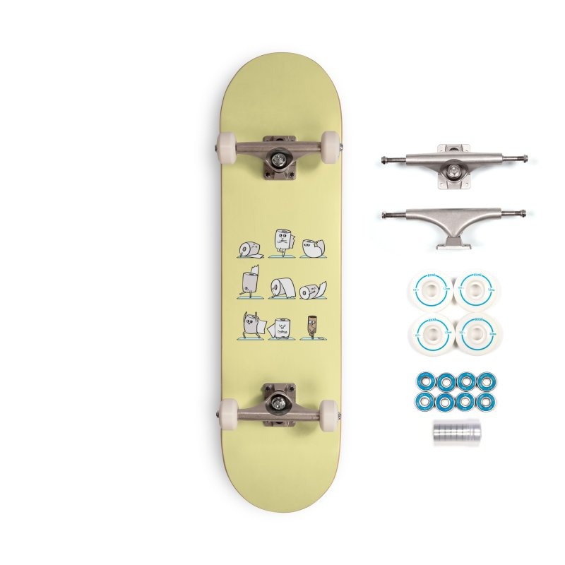 Toilet Paper Yoga Accessories Complete - Basic Skateboard by huebucket's Artist Shop