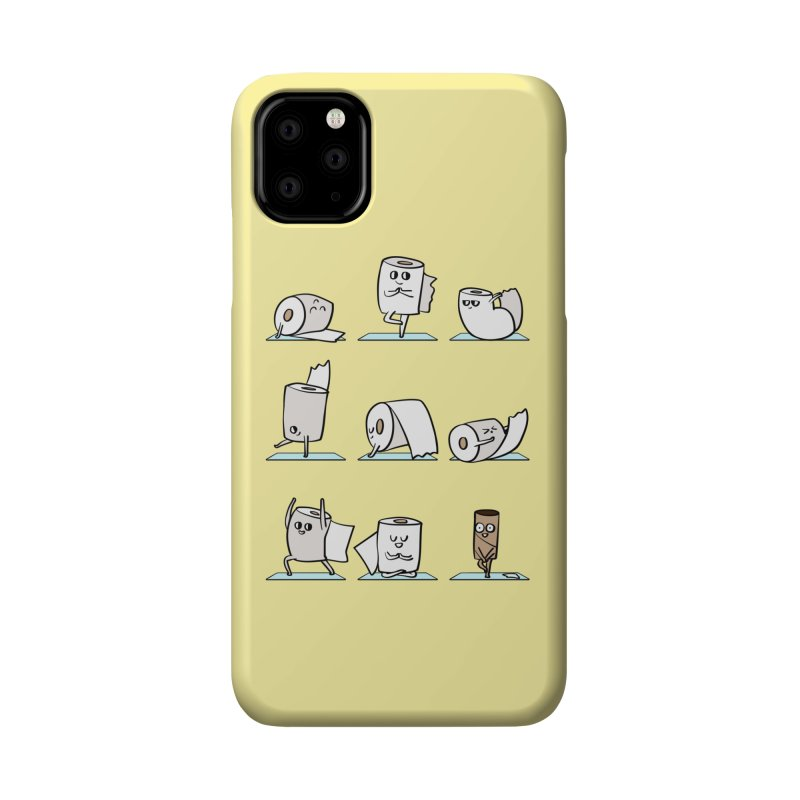 Toilet Paper Yoga Accessories Phone Case by huebucket's Artist Shop