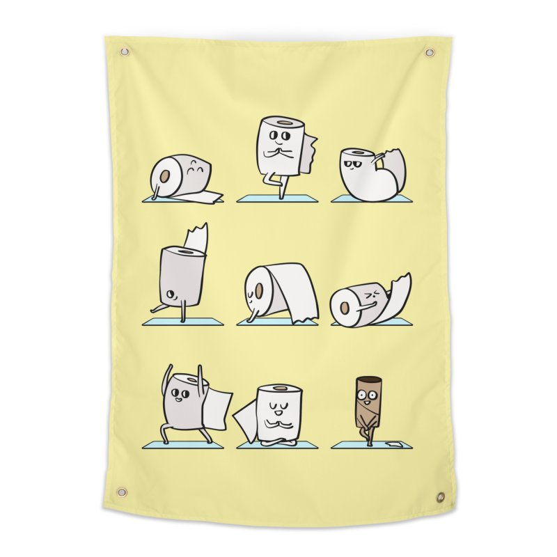 Toilet Paper Yoga Home Tapestry by huebucket's Artist Shop