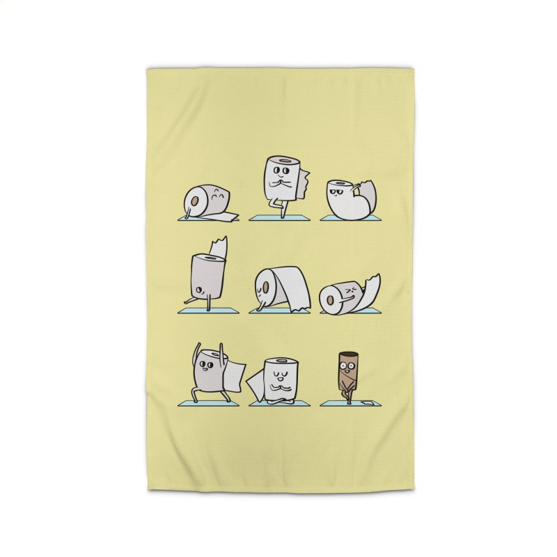 Toilet Paper Yoga Home Rug by huebucket's Artist Shop