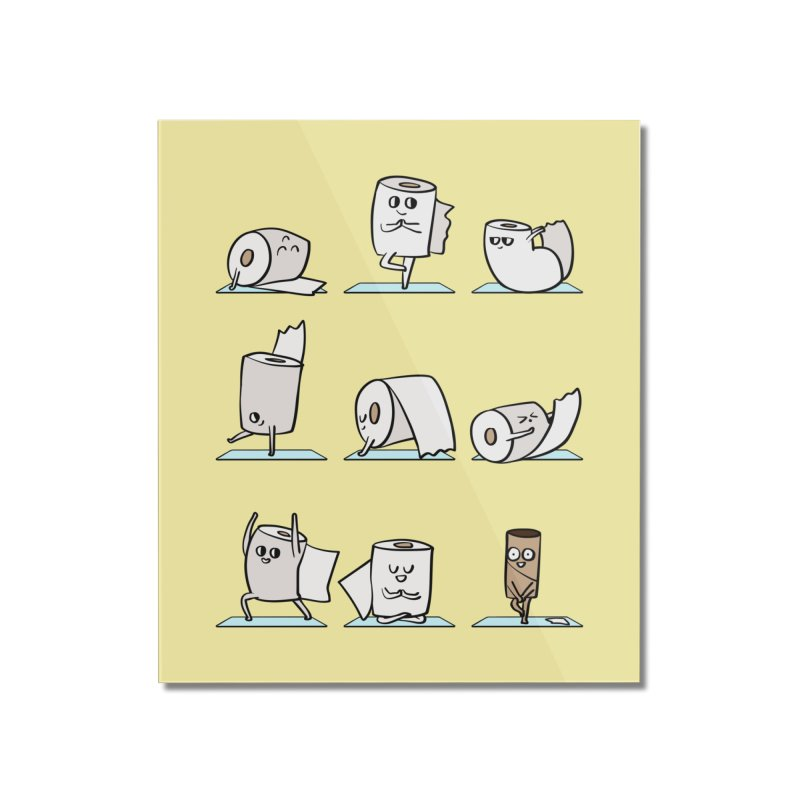 Toilet Paper Yoga Home Mounted Acrylic Print by huebucket's Artist Shop