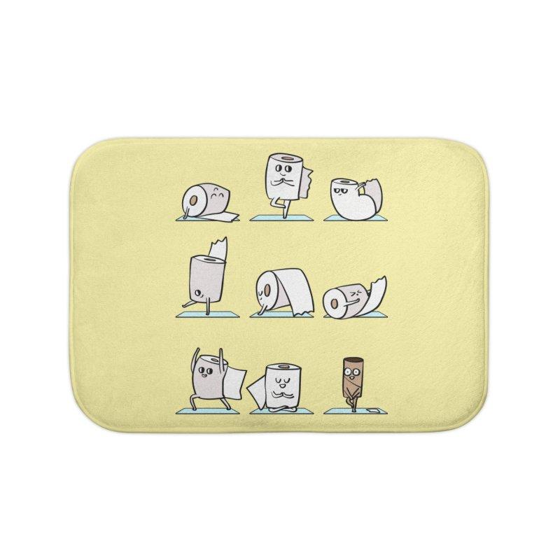 Toilet Paper Yoga Home Bath Mat by huebucket's Artist Shop