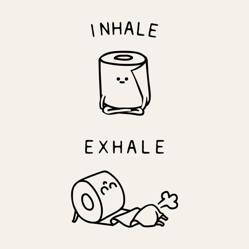 Inhale Exhale Toilet Paper Home Shower Curtain by huebucket's Artist Shop