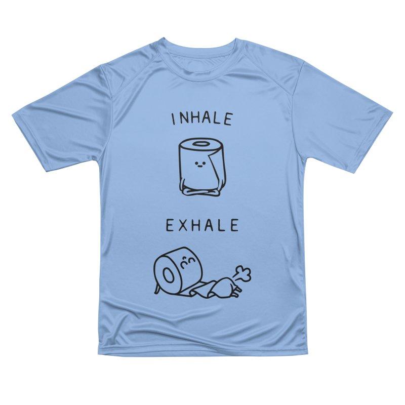 Inhale Exhale Toilet Paper Women's T-Shirt by huebucket's Artist Shop