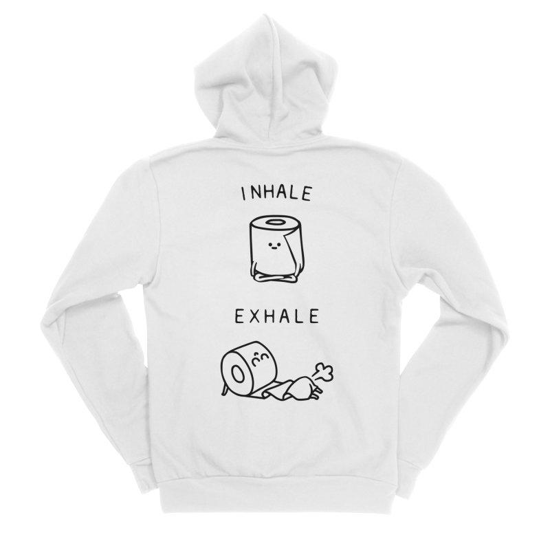 Inhale Exhale Toilet Paper Men's Zip-Up Hoody by huebucket's Artist Shop