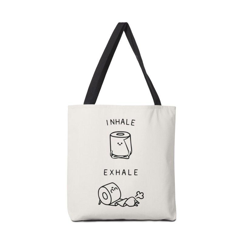 Inhale Exhale Toilet Paper Accessories Bag by huebucket's Artist Shop