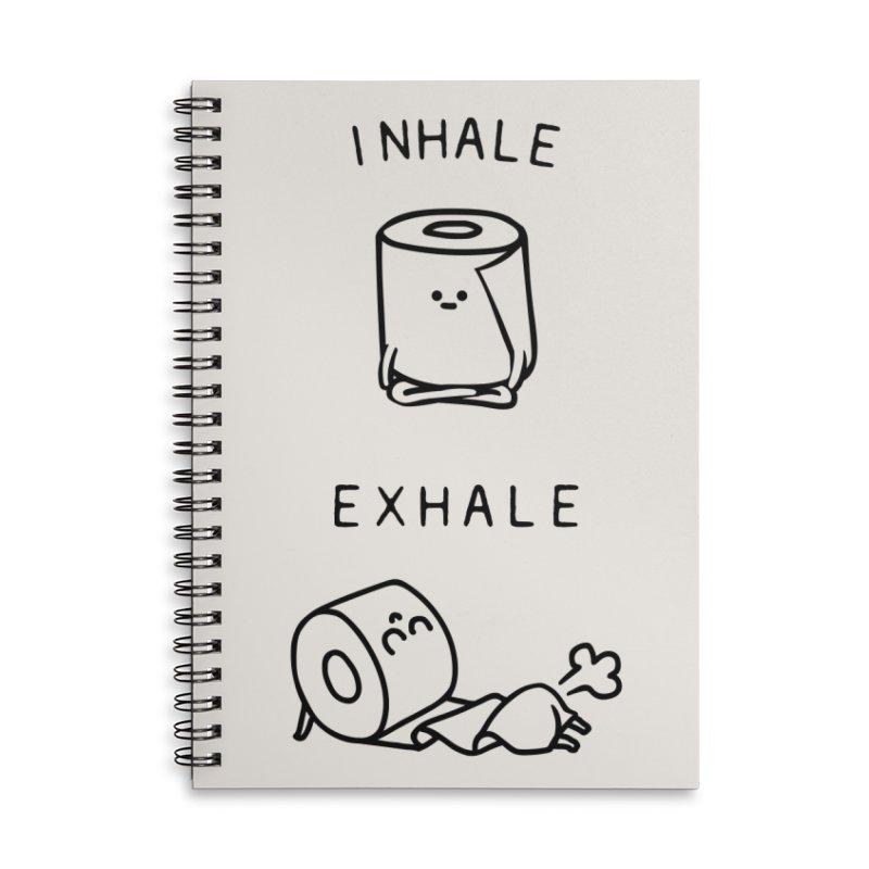 Inhale Exhale Toilet Paper Accessories Notebook by huebucket's Artist Shop