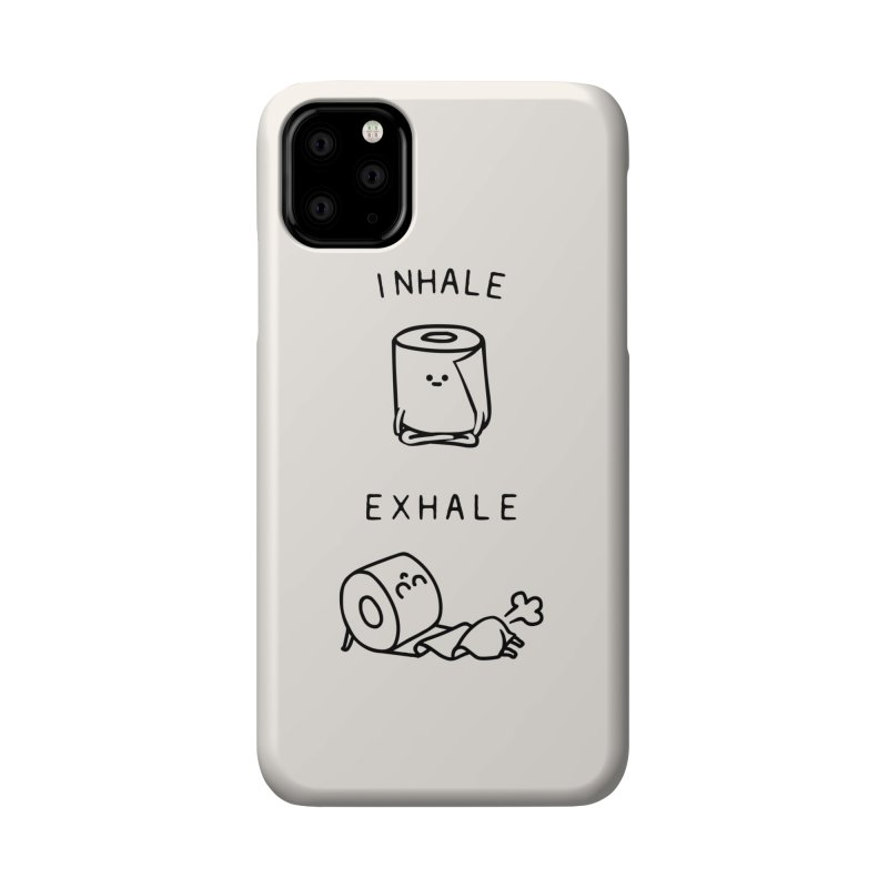 Inhale Exhale Toilet Paper Accessories Phone Case by huebucket's Artist Shop