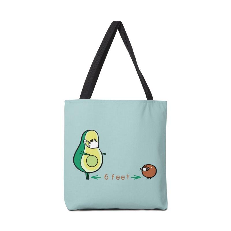 Social distancing Avocado Accessories Bag by huebucket's Artist Shop