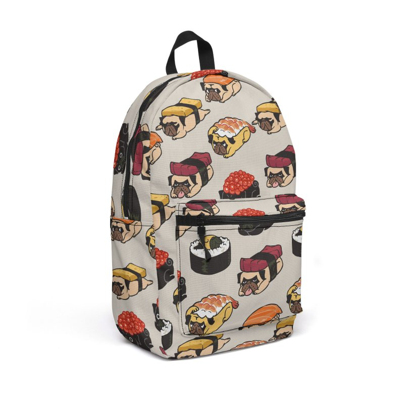 Pug Sushi Accessories Backpack Bag by huebucket's Artist Shop
