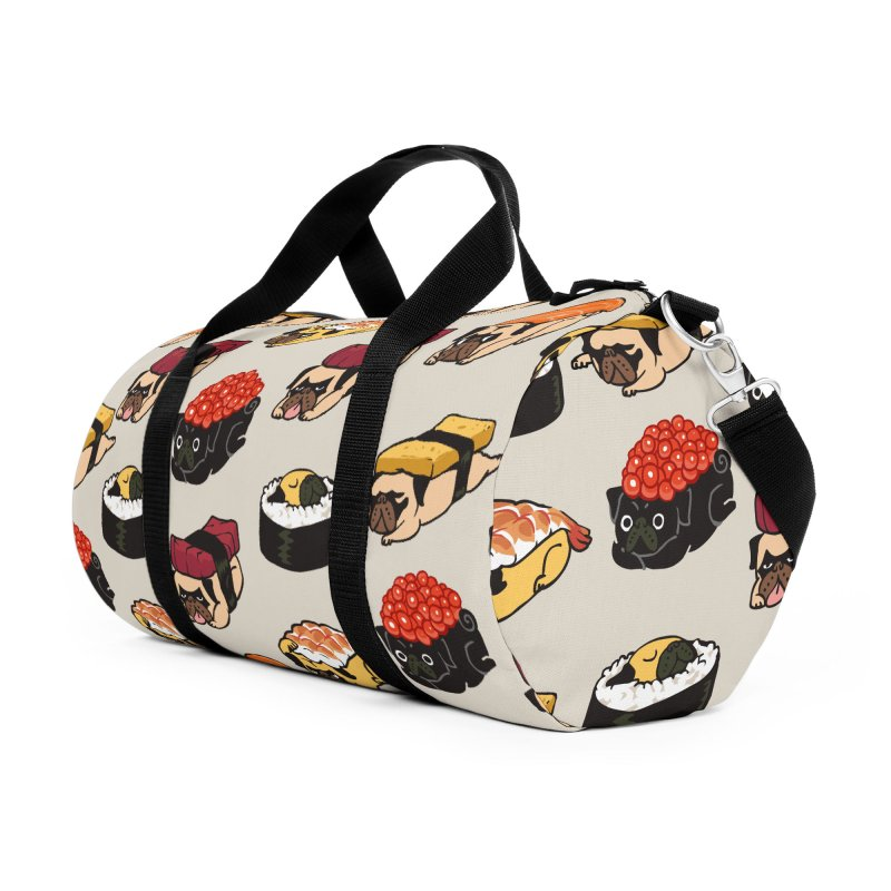 Pug Sushi Accessories Duffel Bag Bag by huebucket's Artist Shop