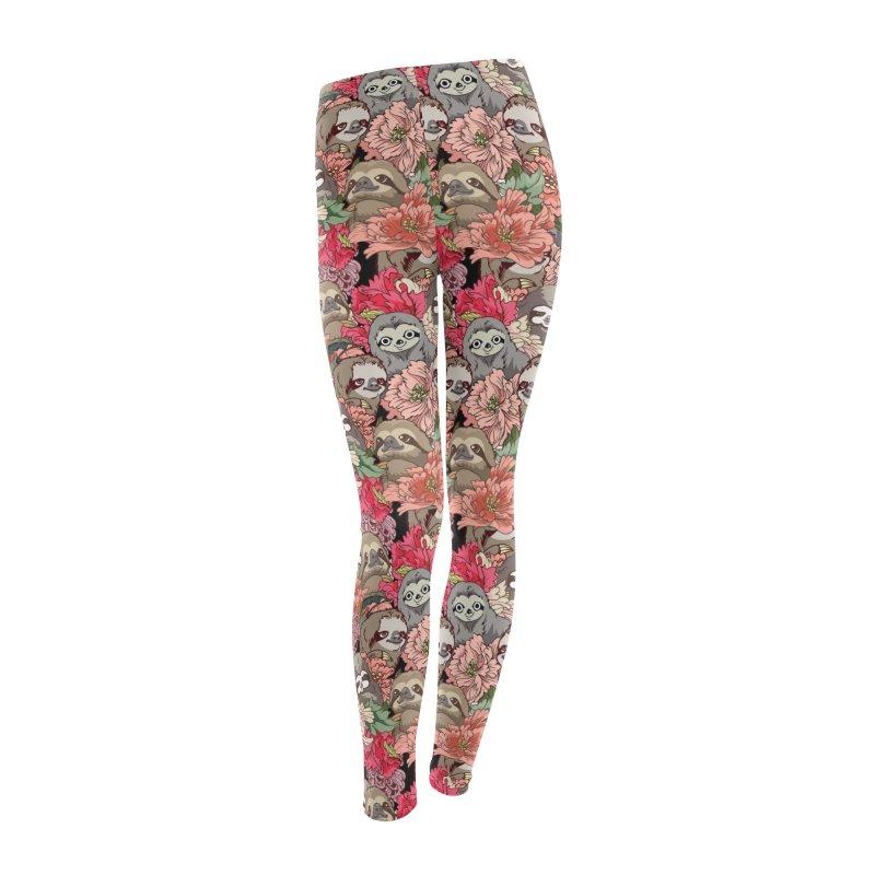 Because Sloths Women's Leggings Bottoms by huebucket's Artist Shop
