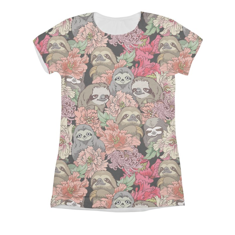 Because Sloths Women's Triblend All Over Print by huebucket's Artist Shop
