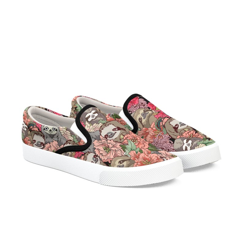 Because Sloths Women's Slip-On Shoes by huebucket's Artist Shop