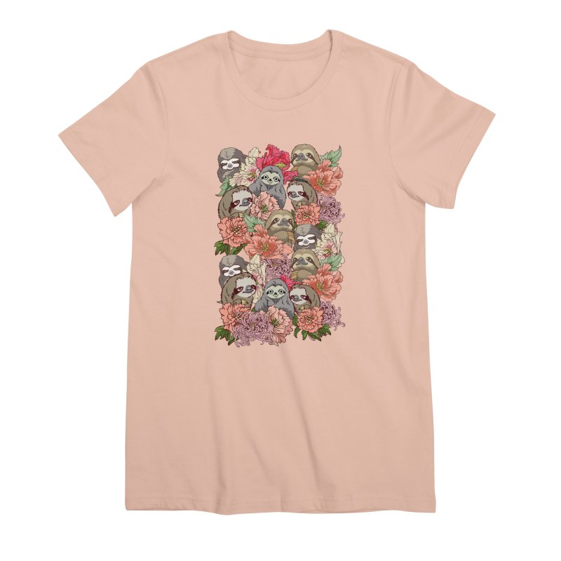 Because Sloths Women's Premium T-Shirt by huebucket's Artist Shop