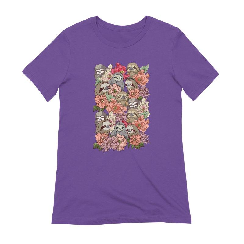 Because Sloths Women's Extra Soft T-Shirt by huebucket's Artist Shop