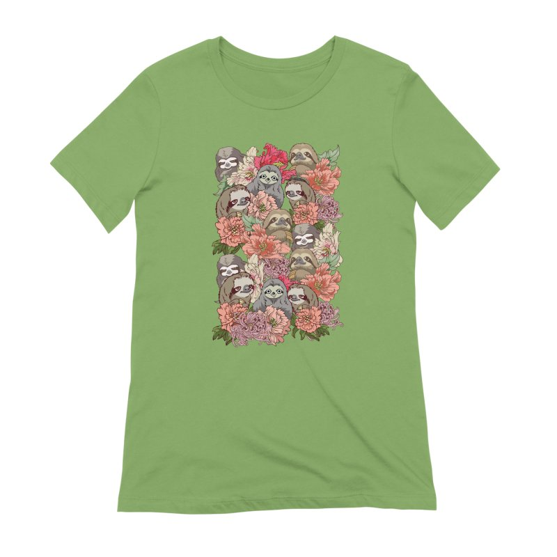 Because Sloths Women's Extra Soft T-Shirt by huebucket's Artist Shop
