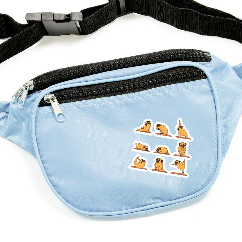 Pug Yoga Accessories Sticker by huebucket's Artist Shop