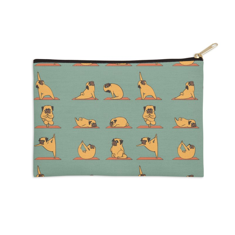Pug Yoga Accessories Zip Pouch by huebucket's Artist Shop
