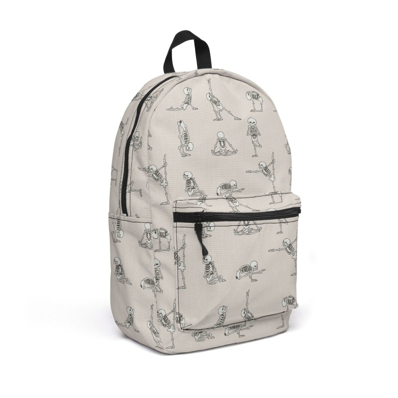 Skeleton Yoga Accessories Backpack Bag by huebucket's Artist Shop